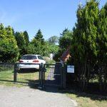 Ferienhaus Dodegge Einfahrt mit Tor