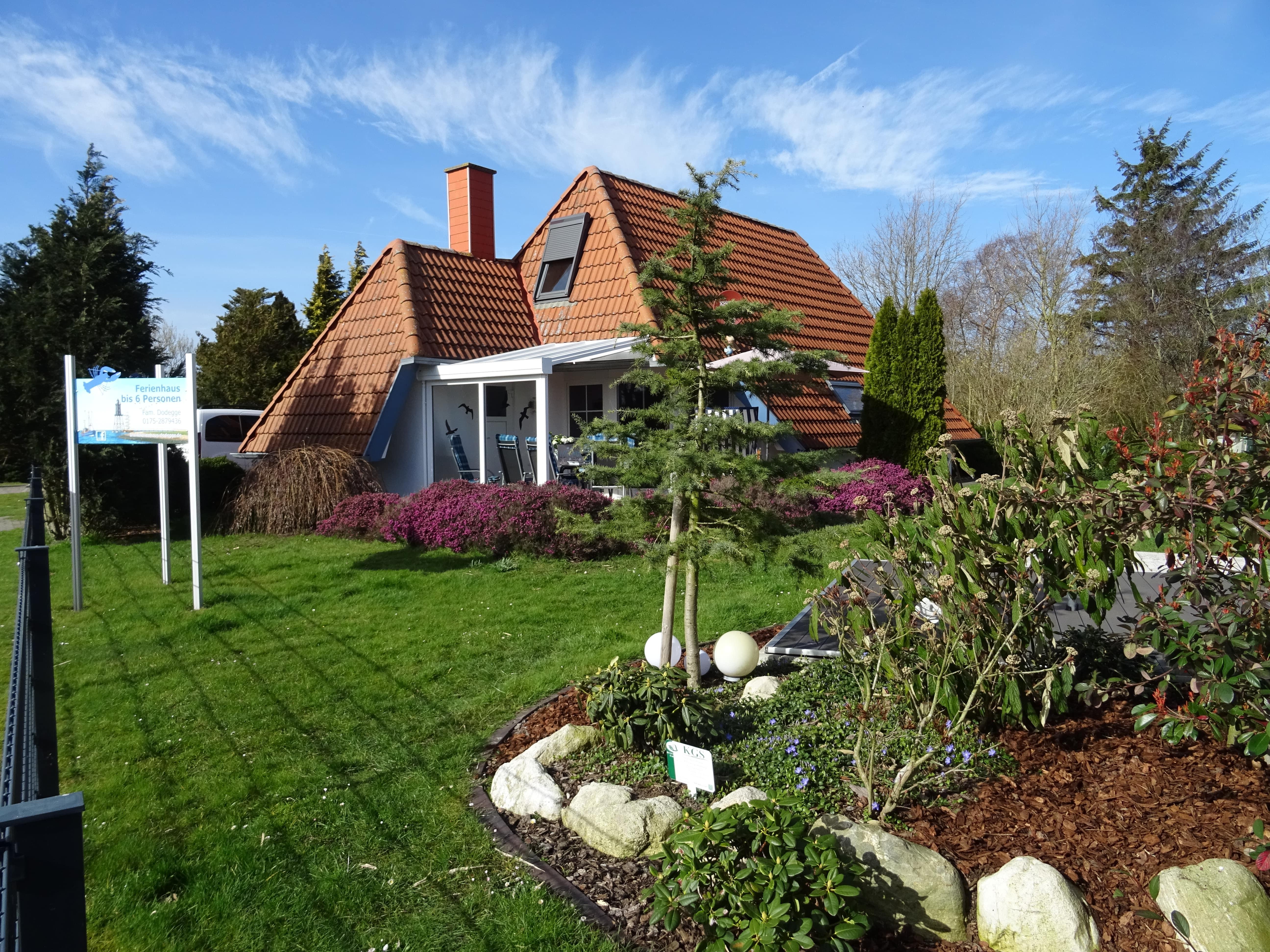 Das Ferienhaus Dodegge mit großem Garten